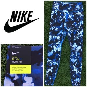 NWT Nike Floral One Tight Fit Leggings